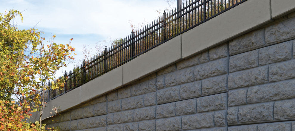 Precast Coping Solution For Retaining Walls The