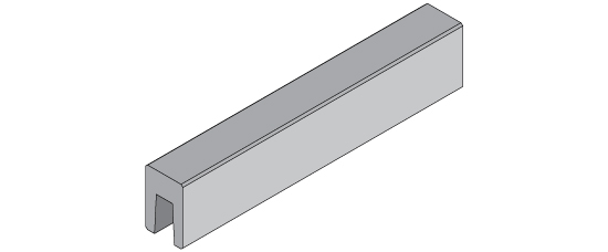 10-ft long precast coping unit