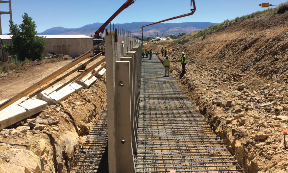 Techwall Precast Counterfort Retaining Wall System