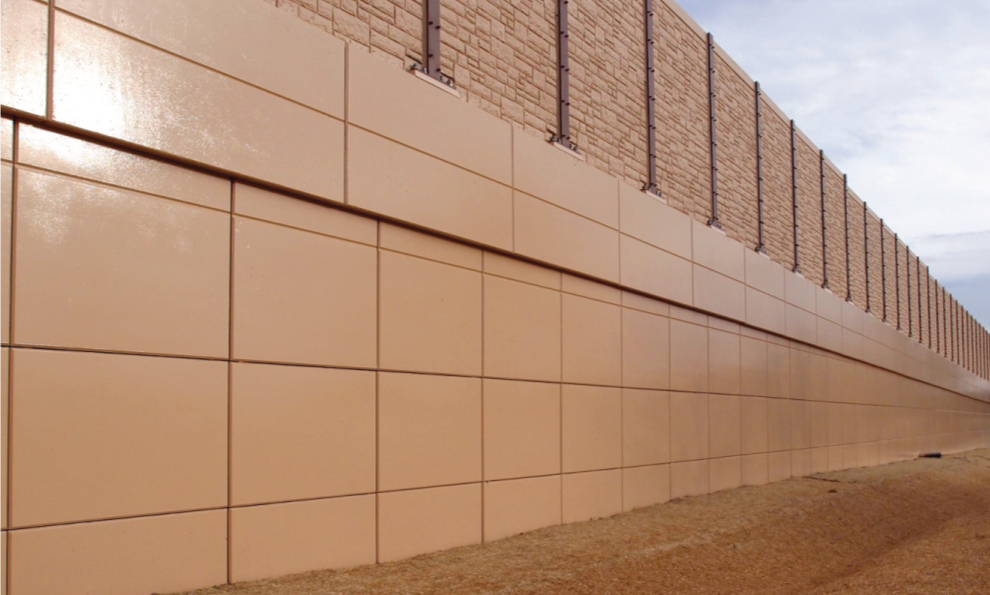 Sideview of T-WALL® Retaining Wall System