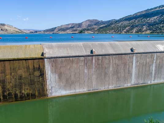 MSE Wall on the Taylor Draw Dam