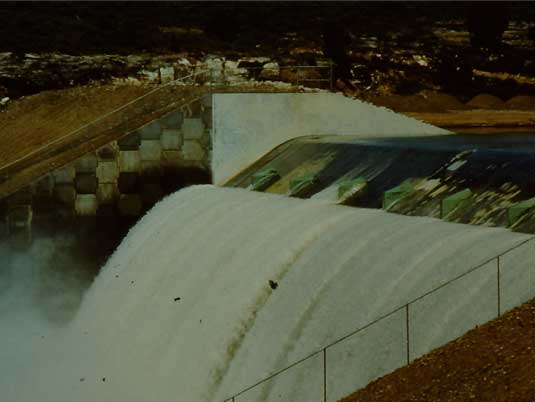 Mechanically Stabilized Earth Side Wall at Taylor Draw Dam