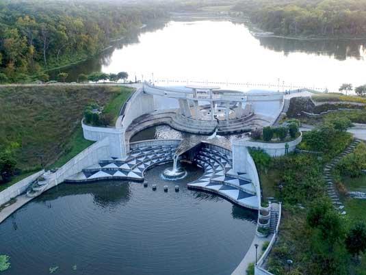 Overlook of the Lake Lenexa Dam