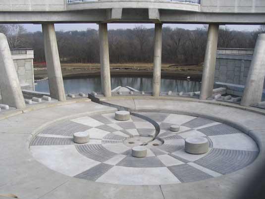 Inside View at the Lake Lenexa Dam