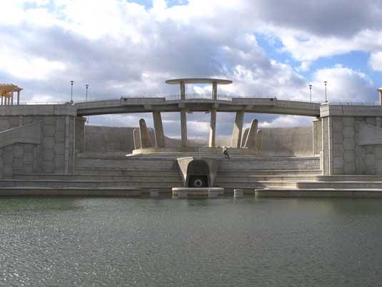 Front View of Lake Lenexa Dam
