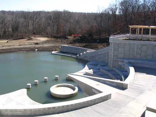 Side View of the Lake Lenexa Dam