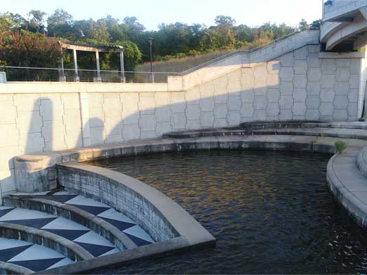Left Side MSE Wall of Lake Lenexa Dam