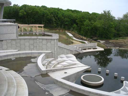 Zoomed Out View of the Lake Lenexa Dam
