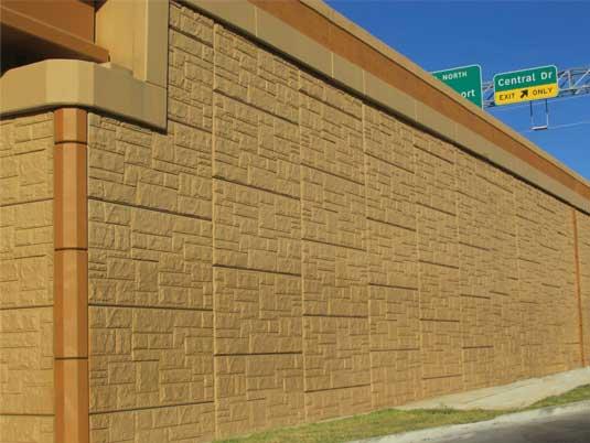 Close Up of North Tarrant Express MSE Wall