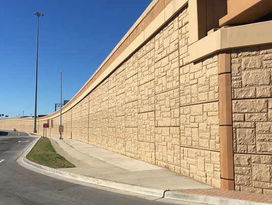 Side View of Completed North Tarrant Express MSE Wall
