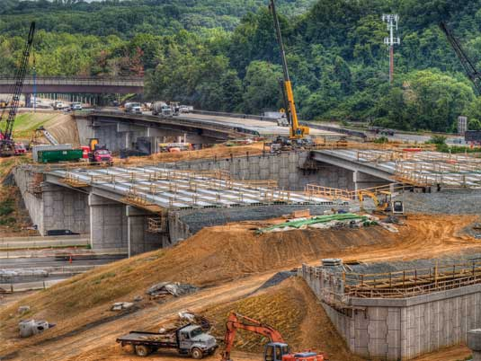 Construction of I-495 MSE Walls and Traffic Barriers