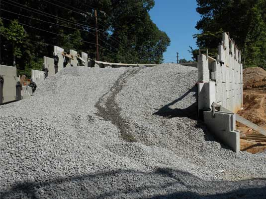 Stones for MSE Wall for I-495 HOT Lane Project in VA