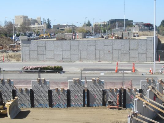 Constructed Reinforced Earth MSE Wall at BART Project