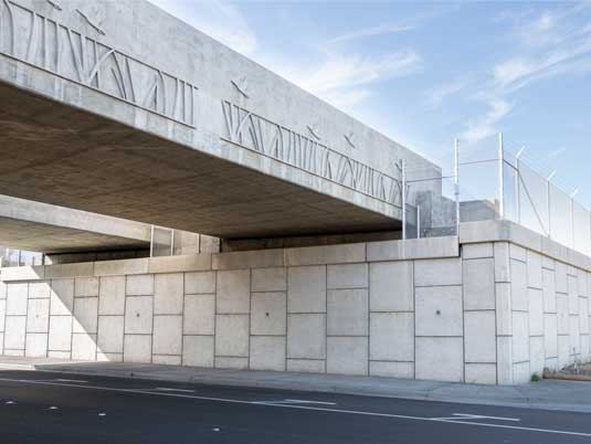 Completed MSE Wall Project at the Bay Area Rapid Transit