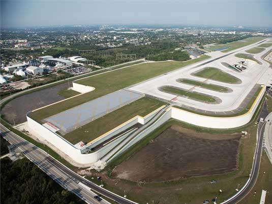 Fort Lauderdale-Hollywood Airport Runway with MSE Walls