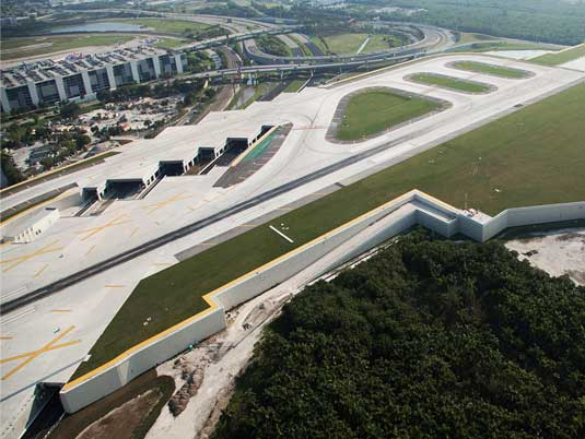 MSE Walls on the Side of Fort Lauderdale-Hollywood Airport Runway