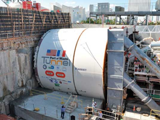 GeoTrel™ MSE Wall Construction at the Port of Miami Tunnel
