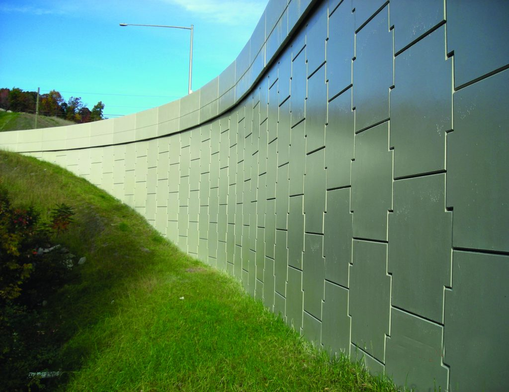 MSE Retaining Wall Structure Along PA 347 in Blakely, PA