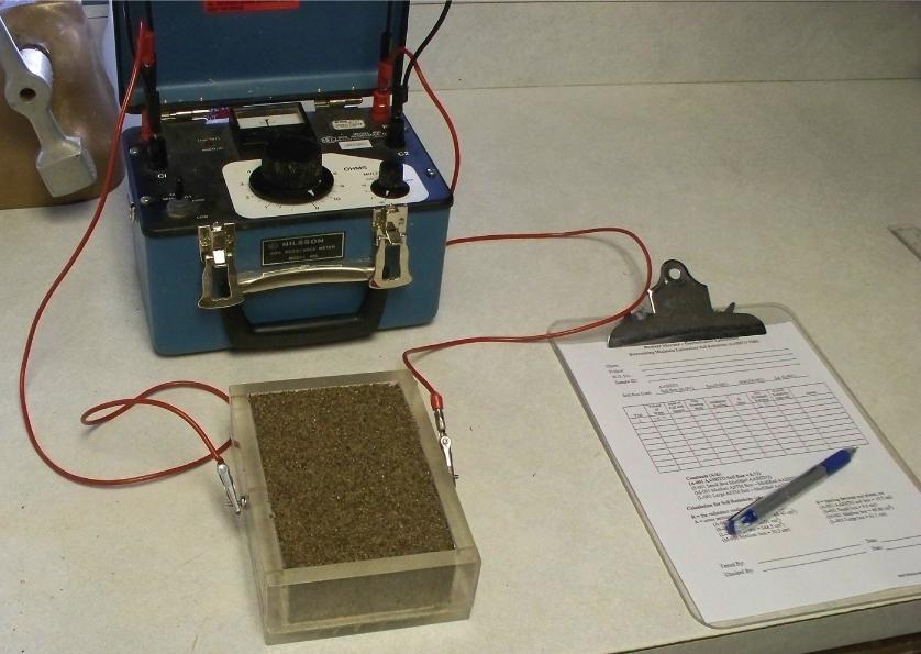 Test Setup for Soil Resistivity Using Method T 288