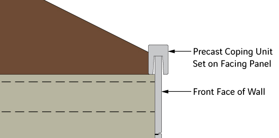 Diagram of Precast Coping for Traffic Barrier