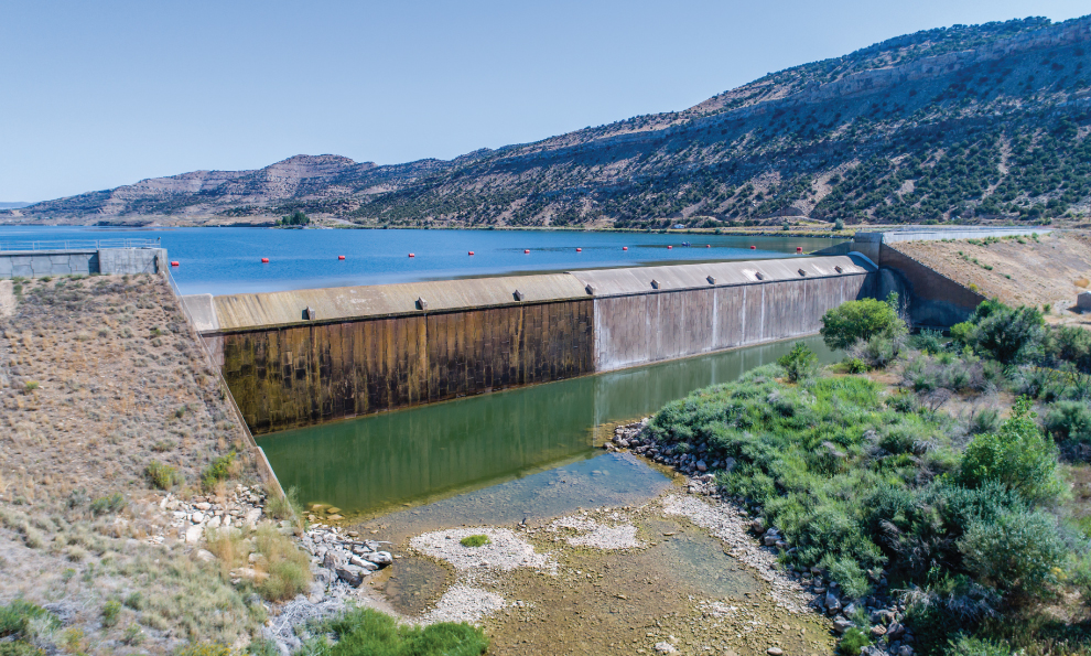 Reinforced Earth Wall at Constructed Dam
