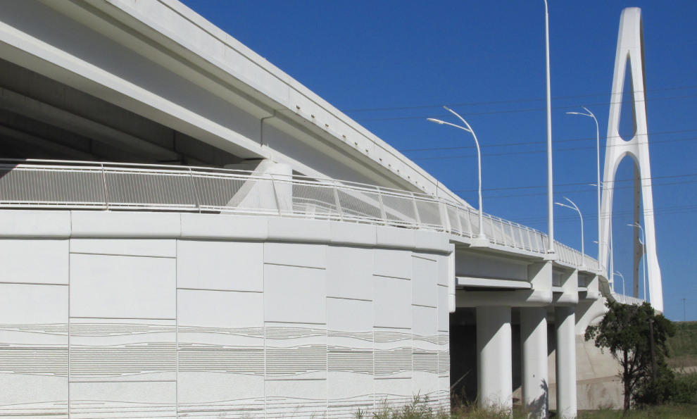 Reinforced Earth Wall Along Highway