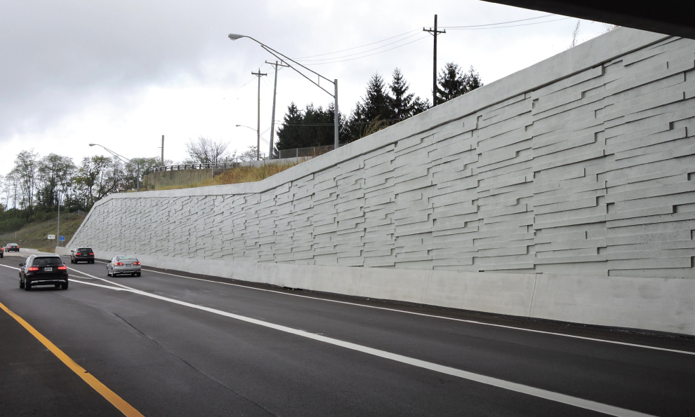 MSE Wall Along Highway