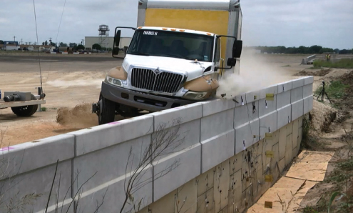 Truck Crashing into MSE Wall to Test Impact