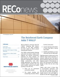 RECo Spring 2018 Newsletter Cover