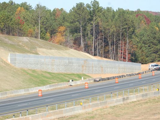 View of Piano Wall™ MSE Retaining Wall at Ridgewalk Parkway