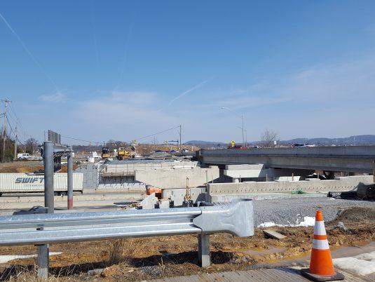 Landscape View of Construction at Freemansburg Avenue Bridge