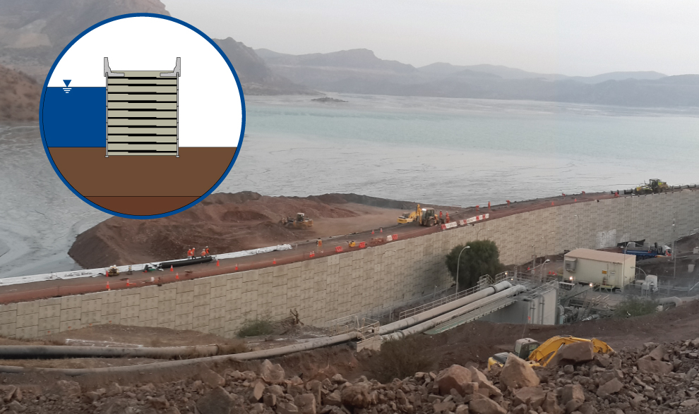 Double-Faced Earth Dam Wall Construction