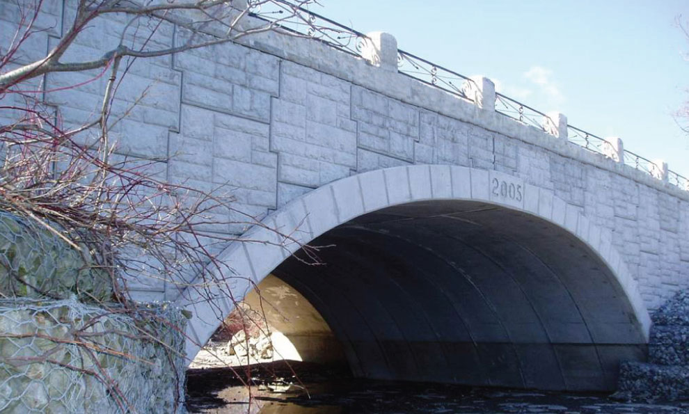 TechSpan Precast Arches on Bridge