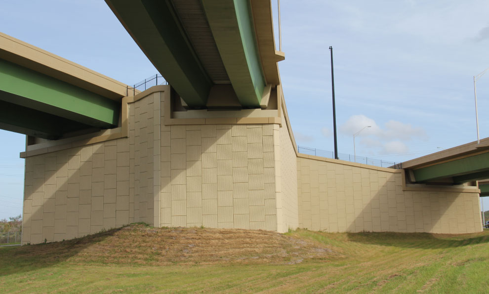 Underneath View of Bridge Abutments