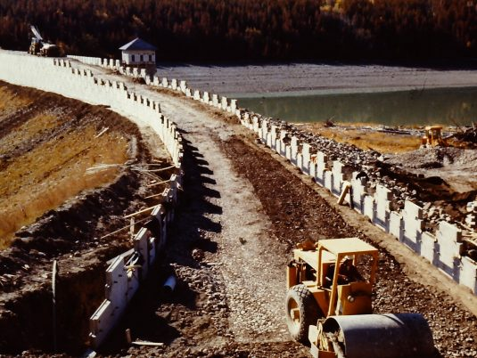 Construction of MSE Wall at Lake Sherburne