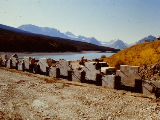 Construction of Dam Raising MSE Wall at Lake Sherburne