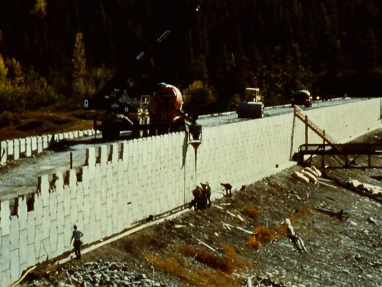 MSE Wall Construction for Dam Raising at Lake Sherburne