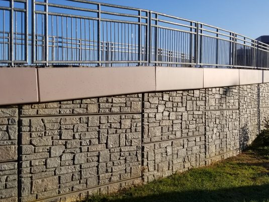 Zoomed in View of MSE Wall at Renva Weeks Knowles Memorial Bridge