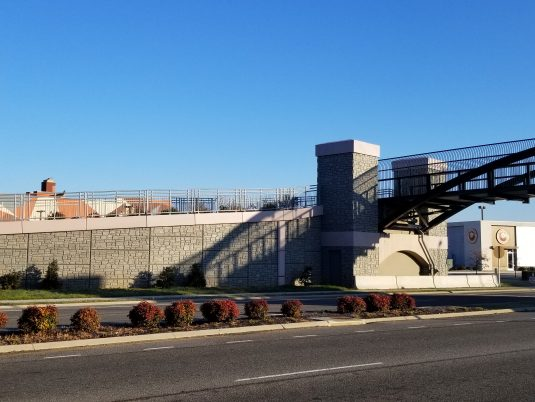 Zoomed Out View of MSE Wall at Renva Weeks Knowles Memorial Bridge