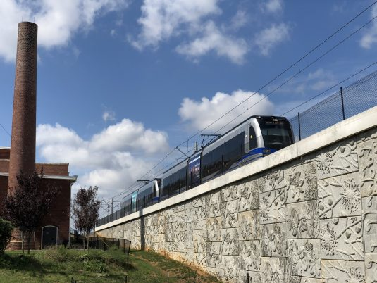Lynx Blue Line Railway Constructed with MSE Wall