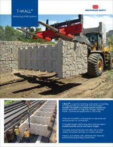 T-WALL® Retaining Walls System PDF Thumbnail