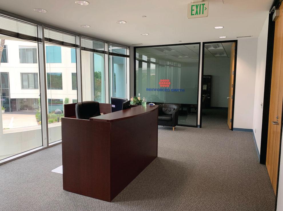 Interior of RECo Southwest Region Office in Laguna Hills, California