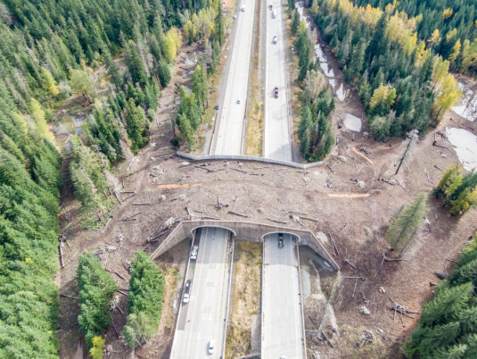 Snoqualmie Pass East Reinforced Wall Aerial View