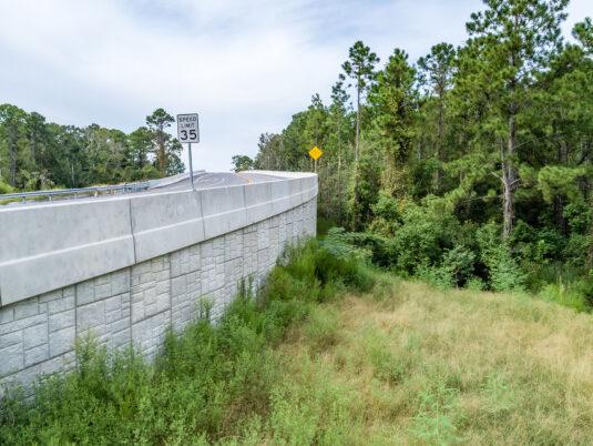Norfolk Southern Railroad Reinforced Wall